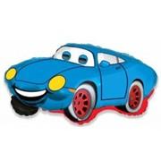 Шар фольгированный Ф М Фигура 3 Машина Тачка голубая FM фото