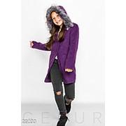 Пальто детское из кашемира с капюшоном (4 цвета) -Фиолетовый KL/-333 фото