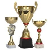 Спортивные награды в ассортименте, кубки, медали, статуэтки, дипломы фото
