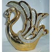 Ваза Лебедь золотой 4558 21см фото