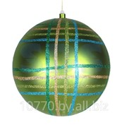 """Елочная фигура """"Шар в клетку"""" 30 см, цвет зеленый мульти фото"""