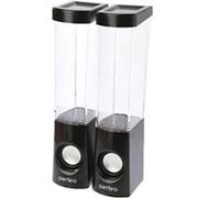 Колонки 2.0 Perfeo Aqua Dream 6т, питание от usb - чёрные с танцующими фонтанчиками с LED-подсветкой, 2 эффекта фото