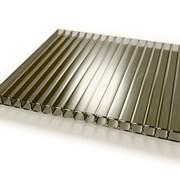 Сотовый поликарбонат 6 мм бронза Oscar фото