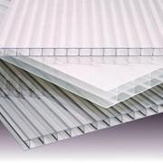 Листы(2.1х6 и 12 м.) сотового поликарбоната сотовый 4мм фото