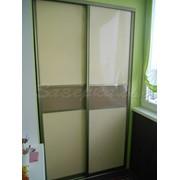Двери для шкафов купе молочно-коричневых оттенков фото
