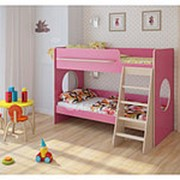 Кровать двухъярусная Легенда 25.1 розовый фото