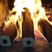 Брикеты топливные из хвойных пород древесины, диам. 60 мм, упакованы в биг-беги фото