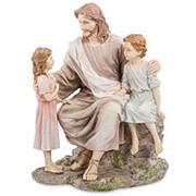 """Скульптура """"Проповедь Иисуса""""/ Библейские сюжеты 16х22х12см. арт.WS-505 Veronese фото"""