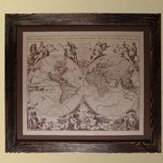 Картина на коже 'Атлас мира' фото