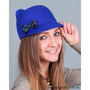 Шляпка с ушками и бантиком 2 фото