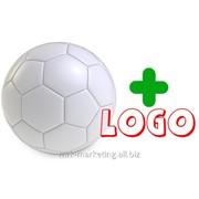 Нанесение рекламы на мячь фото