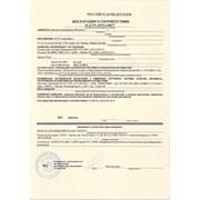 Декларация соответствия техническому регламенту фото