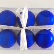 """Набор елочных шаров """"Синий бархат"""", 6 шт, 6 см, синие матов., (MILAND) фото"""