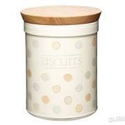 Емкость для печенья керамическая с деревянной крышкой Classic Collection Kitchen Craft (166173) фото