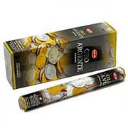 Благовония HEM, шестигранники, Gold & Silver (Золото и Серебро), 20 палочек фото