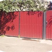 Поофнастил на забор фото