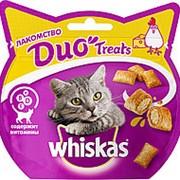 Whiskas 40г Duo Treast Лакомство для взрослых кошек Курица и сыр фото
