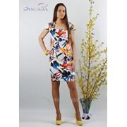 Платье 3402 Оранжевый цвет фото