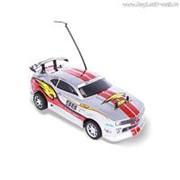 Р/У Автомобиль MioshiTech ON-ROAD RALLY RACER 1:18, до 15 км/ч серо-красный (23 см, пульт с колесом, съёмный корпус) фото