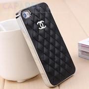 Чехол для iPhone 4 Chanel черный + серебро фото