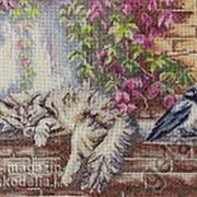 """Набор для вышивания """"Как утеплить гнездо"""" по рисунку О. Воробьевой фото"""