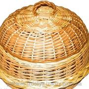 Хлебница из лозы круглая фото
