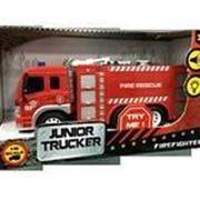 Машина Пожарная 1:16, от 3-х лет, инерционная, световые и звуковые эффекты, 28.5x8.5x16см фото