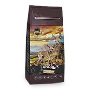 Landor 1кг Сухой корм для взрослых собак мелких пород Ягненок и рис фото