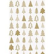 Бумага упаковочная KR Stewo Josua FSC, 0.7 x 2 м, золотая Новогодний фото