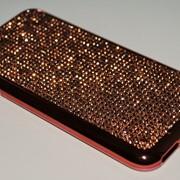 Чехол на Айфон 6/6s ТПУ Swarovski Розовое Золото фото