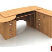 Столы офисные, Стол секретаря 2100х1500х750 (столешница 22 мм) фото