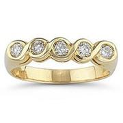 Кольцо золотое с бриллиантами SI1/G 0,75Ct фото