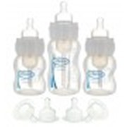 Набор из 3-х бутылочек с ш/г,ПП, 2-120 мл1-240 мл, 2 соски 3 и 2 - 6 арт 430 фото