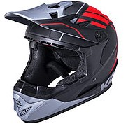 Шлем Full Face DH/BMX Zoka Mat Blk/Red/Gry Y/L 6отверстий 52-53см, черно-красно-серый, ABS, KALI фото