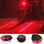 Лазерный светодиодный задний фонарик безопасности для велосипеда с 7-ю режимами фото
