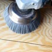 Шлифовка, полировка, текстурирование (старение) бревенчатых стен. фото