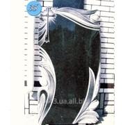 Горизонтальный гранитный памятник на могилу №35 фото