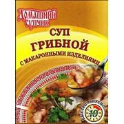Суп грибной с макаронными изделиями фото