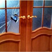 Замена стекла двери фото
