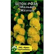 Шток-роза (Мальва) Желтая фото