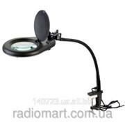 Настольная лупа-лампа на струбцыне с LED подсветкой ZD-129B фото