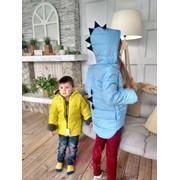 """Детская теплая куртка на флисе"""" Дракоша"""", в расцветках фото"""