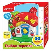 АЗБУКВАРИК Игрушка музыкальная. Грибок-теремок (28171-1) фото