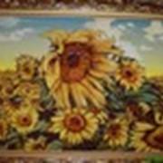 Картины из янтаря «Подсолнухи» фото