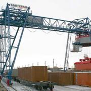 Краны подъемные тяжелые козловые контейнерного типа ККД фото