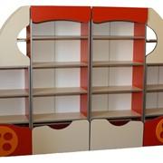 """Стенка детская """"Автомобиль"""" 2400*300*1548 мм + накладки МДФ, Купить мебель для детских комнат фото"""