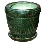 Горшок цветочный классика шик, диаметр 20 см, дизайн антей №1 зеленый фото