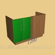 Блок МДФ краска нижний 1200 мм угловой левый