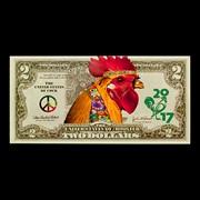 Календари - Банкноты 2 / Удача в год Петуха / набор 4 шт x01043-02 фото