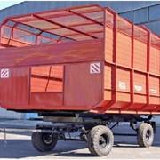 Прицеп тракторный самосвальный 2ПТС-4,5 с кузовом емкостью 45м³ фото